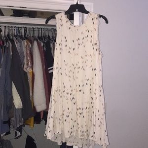 Cream dress with pattern